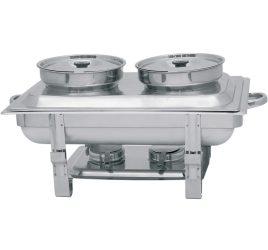 Chafing 2 levestál+fedővel (2 égőpasztatartóval)