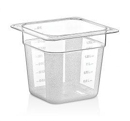 GN 1/6 150-es edény, 2 l, polikarbonát