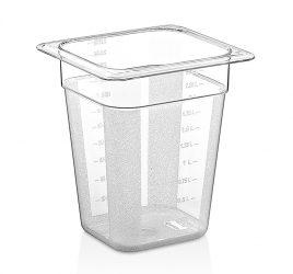GN 1/6 200-as edény, 2,5 l, polikarbonát